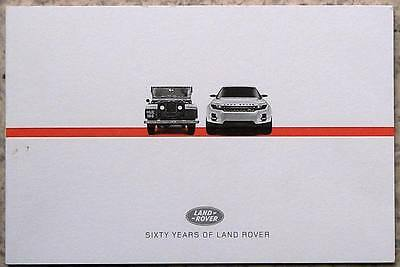 LAND ROVER SIXTY YEARS Historical Publicity Brochure 1948 to 2008
