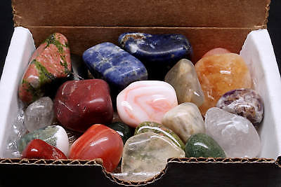 Tumbled Stone Collection 9 Oz Polished Mineral Mix Natural Colors