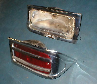 1963 Rambler Ambassador L & R Tail Lights NICE
