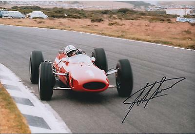 John SURTEES SIGNED RARE Genuine FERRARI F1 12x8 Photo AFTAL Autograph COA
