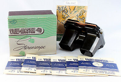 View-Master Stereoscope Viewer, Model C in original box with 6 reels
