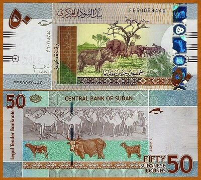 North Africa, 50 Pounds, 2011, P-New, UNC