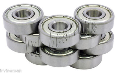 10 Bearing 8x14 Shielded 8x14x4 Miniature Ball Bearings