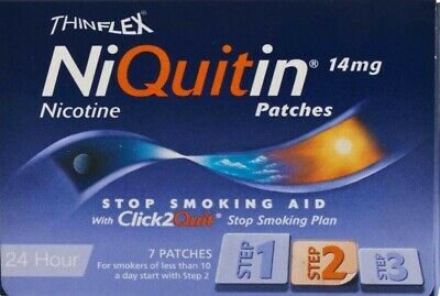 Niquitin CQ Patches 14mg Original - Step 2 - 7 Patches - PACK OF 3