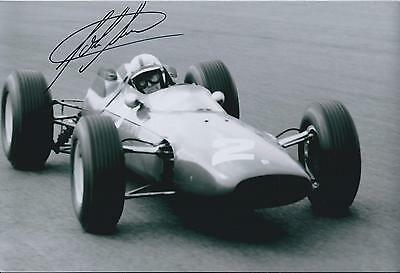 John SURTEES SIGNED Genuine RARE FERRARI F1 12x8 Photo AFTAL Autograph COA