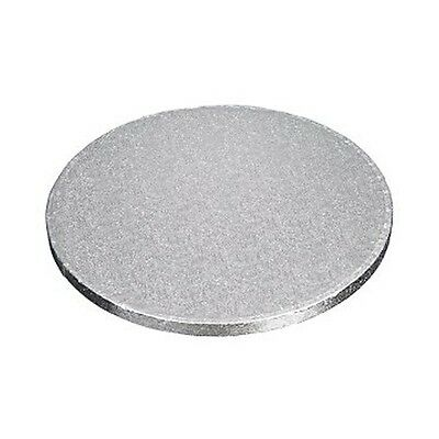 "10"" silver round cake drums boards  12mm thick strong board choose quantity"
