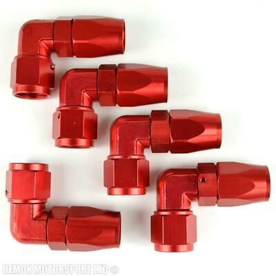 AN -8 Forged 90 Degree Hose Fitting (5 Pack) Red 8AN AN8 -8