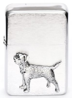 Border Terrier Gift Lighter Petrol Lighter FREE ENGRAVING Gift Boxed