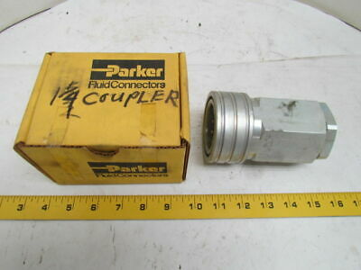 "Parker H12-62J H12-62L 60 Series Steel Hydraulic Quick Coupler 1""NPT"