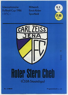 IFC 09.07.1986 FC Carl Zeiss Jena - Roter Stern Cheb, InterToto Cup
