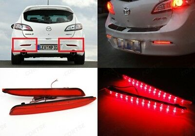 Mazda3 2010+ Red Lens LED Bumper Reflector Tail Brake Stop Light Axela BL Mazda