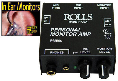 Rolls Pm50s Personal Monitor Amplifier Cad 66 80