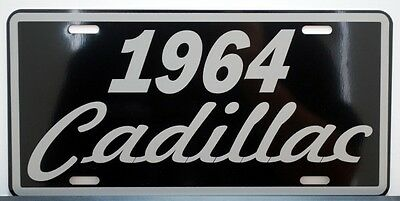 1964 64 Cadillac Metal License Plate Eldorado Coupe De Ville Sedan Fleetwood