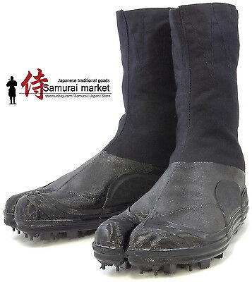 Durable Tabi Ninja Boots/Shoes with Spikes by Rikio 8 Clips Water resistant