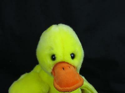 """10"""" TY 1998 YELLOW EASTER COOL CHICK SOFT SPRINGTIME PLUSH STUFFED ANIMAL TOY"""