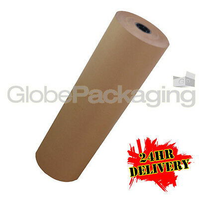 450mm x 100M HEAVY DUTY STRONG BROWN KRAFT WRAPPING PAPER ROLL 88gsm *24HR DEL*