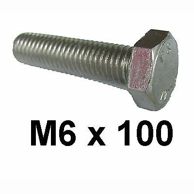 M6 x 100 Stainless Steel Hex Bolts / Set Screw 6mm x 100mm Stainless Bolt DIN933