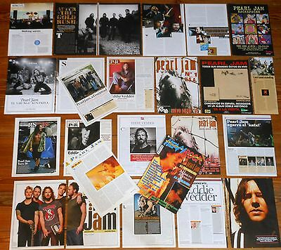 PEARL JAM clippings 1990s/2010s magazine photos eddie vedder collection