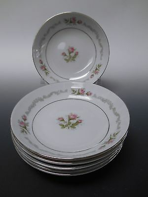 Mikasa Fine China FIRST LOVE Pattern Set of 6 Fruit Dessert or Berry Bowls 5.5""