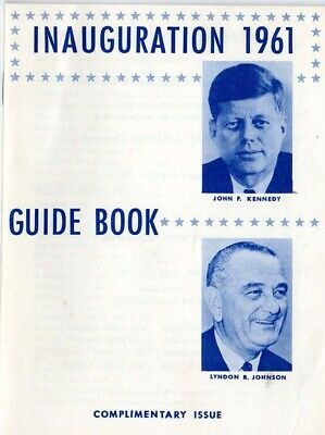 1961 John F. Kennedy Inauguration Guide Book