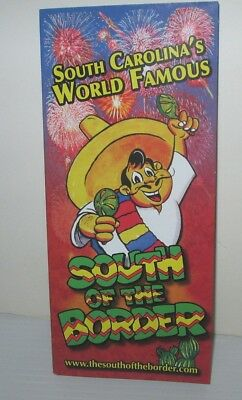 South Of The Border Us Attraction S Carolina Brochure Pamphlet & Mileage Chart