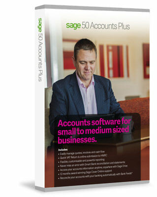 Sage 50 Accounts Plus 2017 from Top UK Sage Supplier