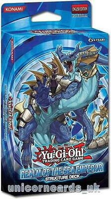 YuGiOh Realm of the Sea Emperor Structure Deck 1st Edition Cards + Mat - No Box!