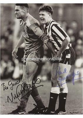 Vinnie Jones Grabbing Paul Gascoigne Gazza Signed (Printed) Exclusive A4 Print