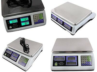4 X Digital Weight Scale 60LB Computing Food Meat Scale Produce Deli Industrial