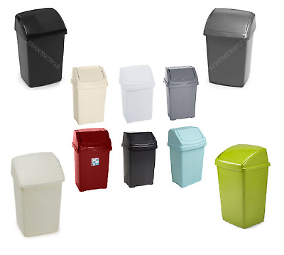 Plastic Swing Bin Plastic 8L,10L,15L,25L,30L,50L Kitchen Waste Rubbish Dustbins