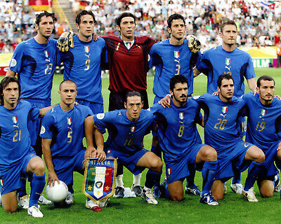 Italy - 2006 World Cup Champions, 8x10 Team Color Photo