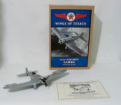 WINGS OF TEXACO 1932 Northrop Gamma #2 in Series AIRPLANE coin bank with COA