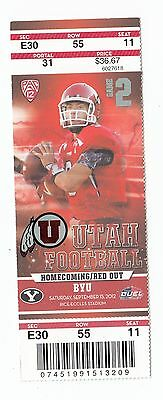 2012 Utah Utes Vs Byu Cougars Ticket Stub 9/15/12