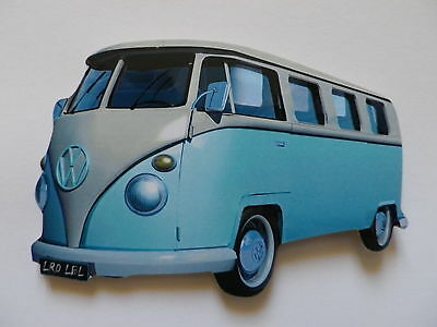 Funky Light Blue Vw Camper Van Jumbo Size Fridge Magnet.new