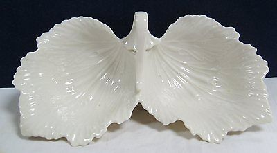 Lenox Double Leaf Candy Dish Made In USA
