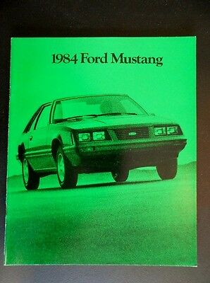Rare! 1984 84 Ford Mustang Sales Brochure L Lx Gt Svo & Turbo Gt T-Tops