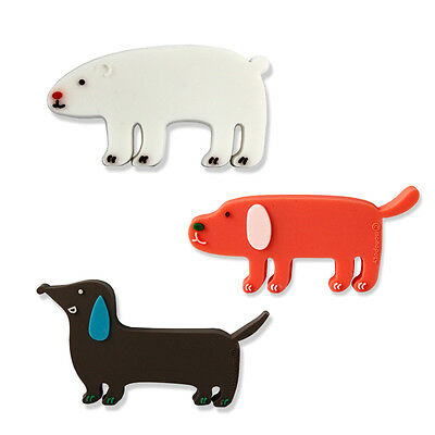 3x Cute Sausage Dog Bear Earphone Headphone Cable Cord Wrap Rubber White Orange
