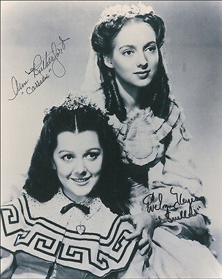 """10""""x8"""" PHOTO PRINTED AUTOGRAPH - ANN RUTHERFORD & EVELYN KEYES"""