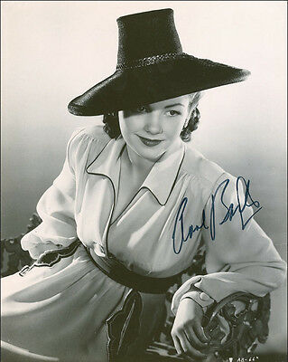 "10""x8"" PHOTO PRINTED AUTOGRAPH - ANNE BAXTER b"