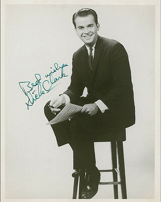 "10""x8"" PHOTO PRINTED AUTOGRAPH - DICK CLARK"