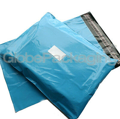 """10 x Baby Blue STRONG Postal Mailing Bags - 17 x 21"""""""