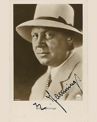 "10""x8"" PHOTO PRINTED AUTOGRAPH - EMIL JANNINGS"