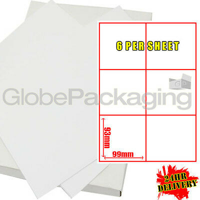 600 Sheets Of Printer Address Labels - 6 Per Page Sheet