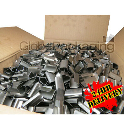 2000 METAL SEALS FOR HAND PALLET STRAPPING 12mm x 25mm
