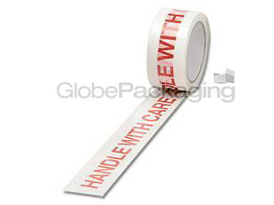 3 Rolls Of HANDLE WITH CARE Printed Packing Tape 48x66m