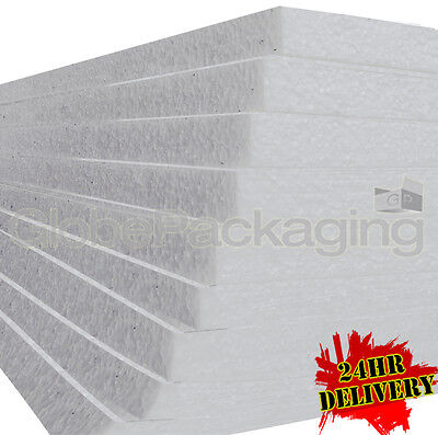 12 x POLYSTYRENE EPS FOAM PACKING SHEETS 1200x600x50mm