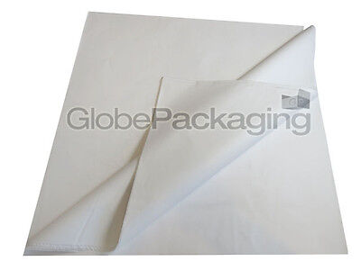 100 SHEETS OF WHITE ACID FREE TISSUE PAPER 500x750mm