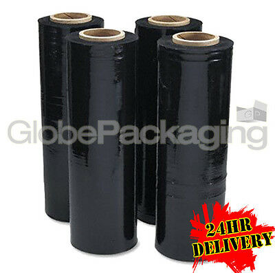 6 Rolls Of Black Pallet Stretch Shrink Wrap - Ltd Offer