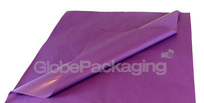 100 SHEETS OF VIOLET PURPLE ACID FREE TISSUE PAPER 375mm x 500mm *HIGH QUALITY*