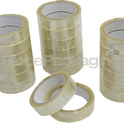 "6 Rolls Clear Packing Tape 25mm 1"" Cellotape FREE P&P"